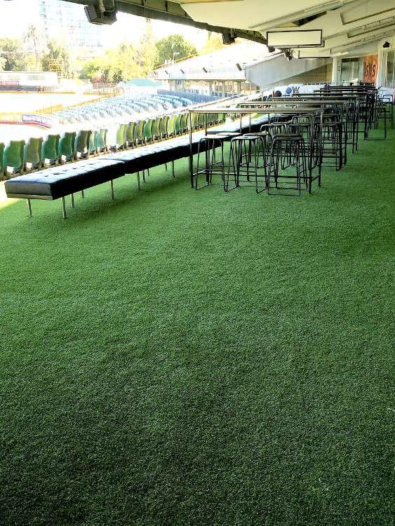 Landscaping Perth - Artificial lawn job completed for a commercial client at a sporting stadium