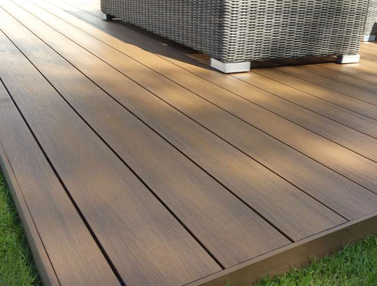 Landscape Design Perth - Close up of a deck made of composite decking