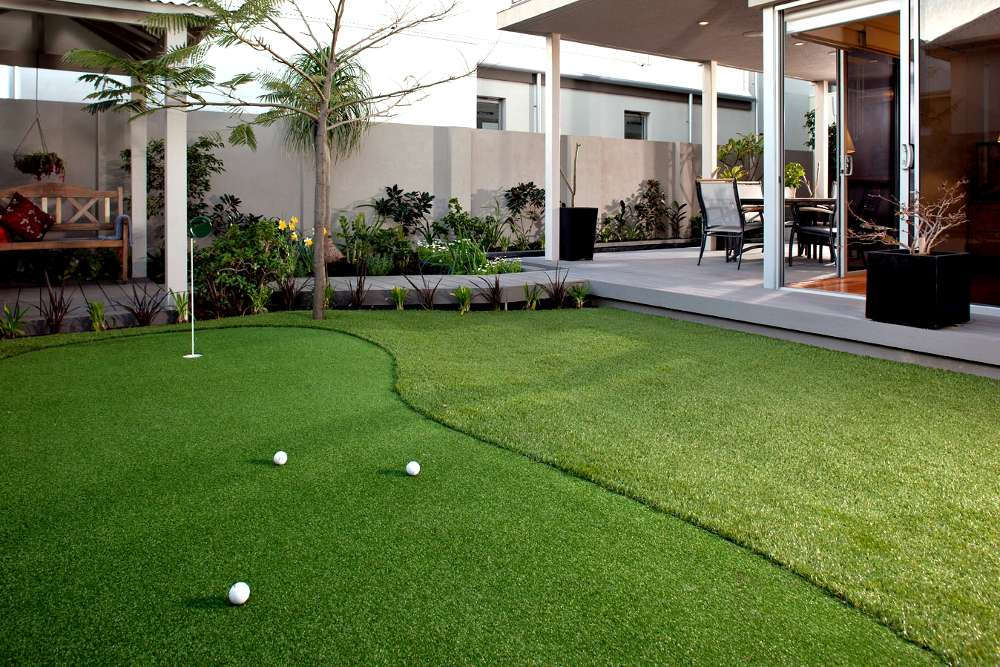 Landscaping Perth - Artificial golf putting green at a residential house in North Coogee