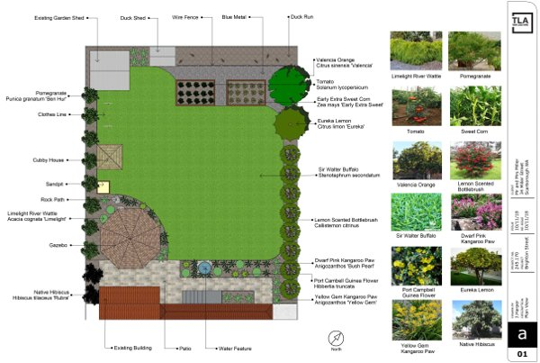 Landscape Design Perth - 2D Plan