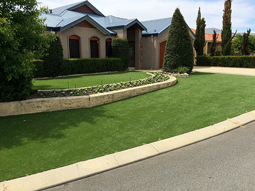 artificial lawn front yard in perth